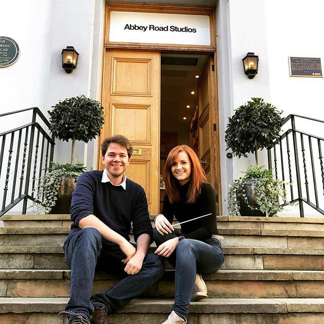 """Photo from last weekend at Abbey Road Studios. Got to work with the fantastic @amiedots again, on her amazing score to a very special upcoming film. Also got to sit in on the final session for John Powell's How To Train Your Dragon 3, Which was literally a fantasy I've had since I heard the first brass chords of """"This is Berk"""" in 2010. What an unreal weekend!!!"""