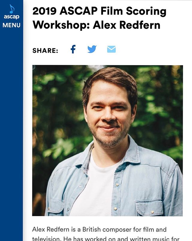 Very excited to start the ASCAP Film Scoring Workshop tonight.  Here is some info about the workshop and participants  https://www.ascap.com/news-events/Events/2019/film-scoring-workshops/la/participants  #composer #filmcomposer #soundtrack #filmscoring