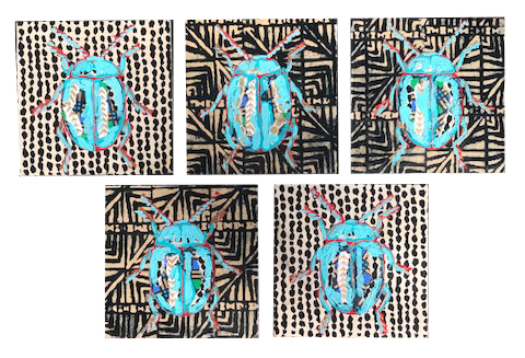 Beetles Marian Pouch Find Your Joy Greenville SC Local artist painting acrylic bright color colorful.jpg