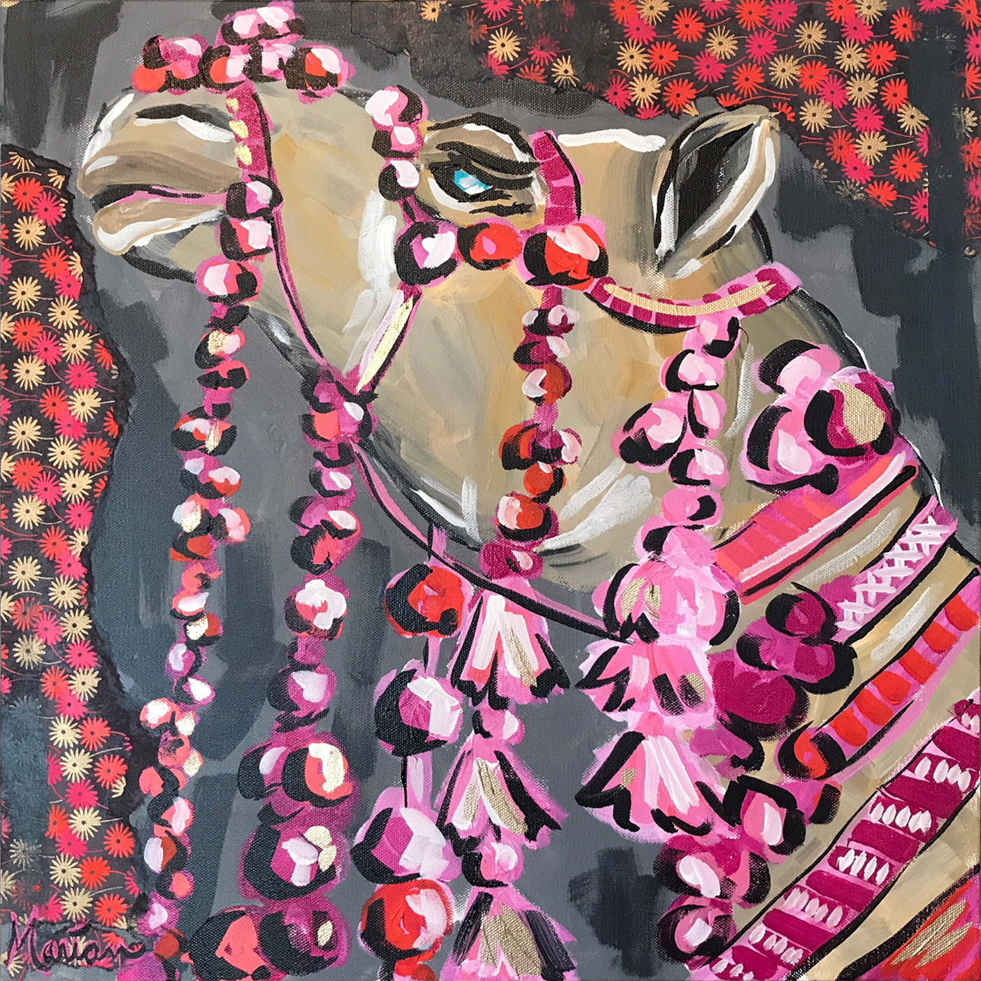 Camel 1Marian Pouch Find Your Joy Greenville SC Local artist painting acrylic bright color colorful..jpg