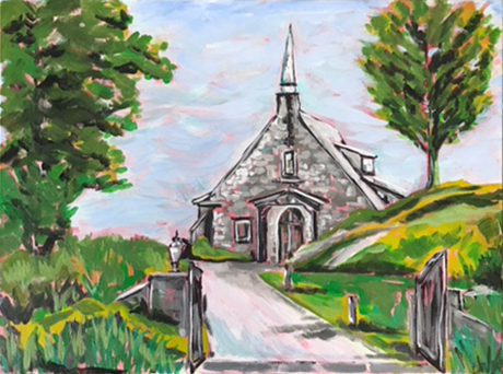 Church 1 Marian Pouch Find Your Joy Greenville SC Local artist painting acrylic bright color colorful..jpg