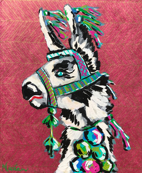 Llama 4 Marian Pouch Find Your Joy Greenville SC Local artist painting acrylic bright color colorful..jpg
