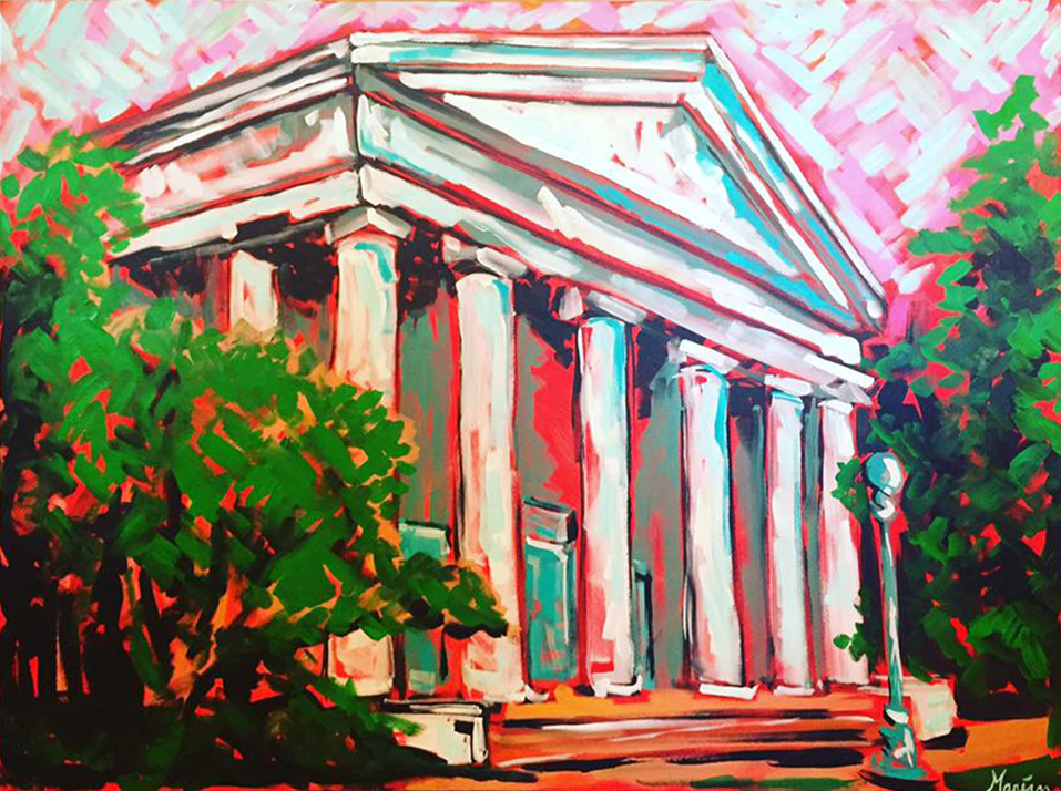Marian Pouch Art Greenville South Carolina Architecture Painting Color.png