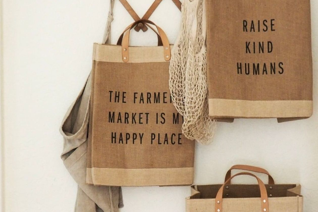 Apolis' most popular item is the customizable Market Bag. Photo: Apolis