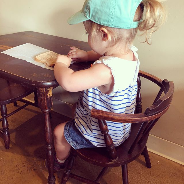 Serious snacking, serious hiking...what adventures does your tiny human love?