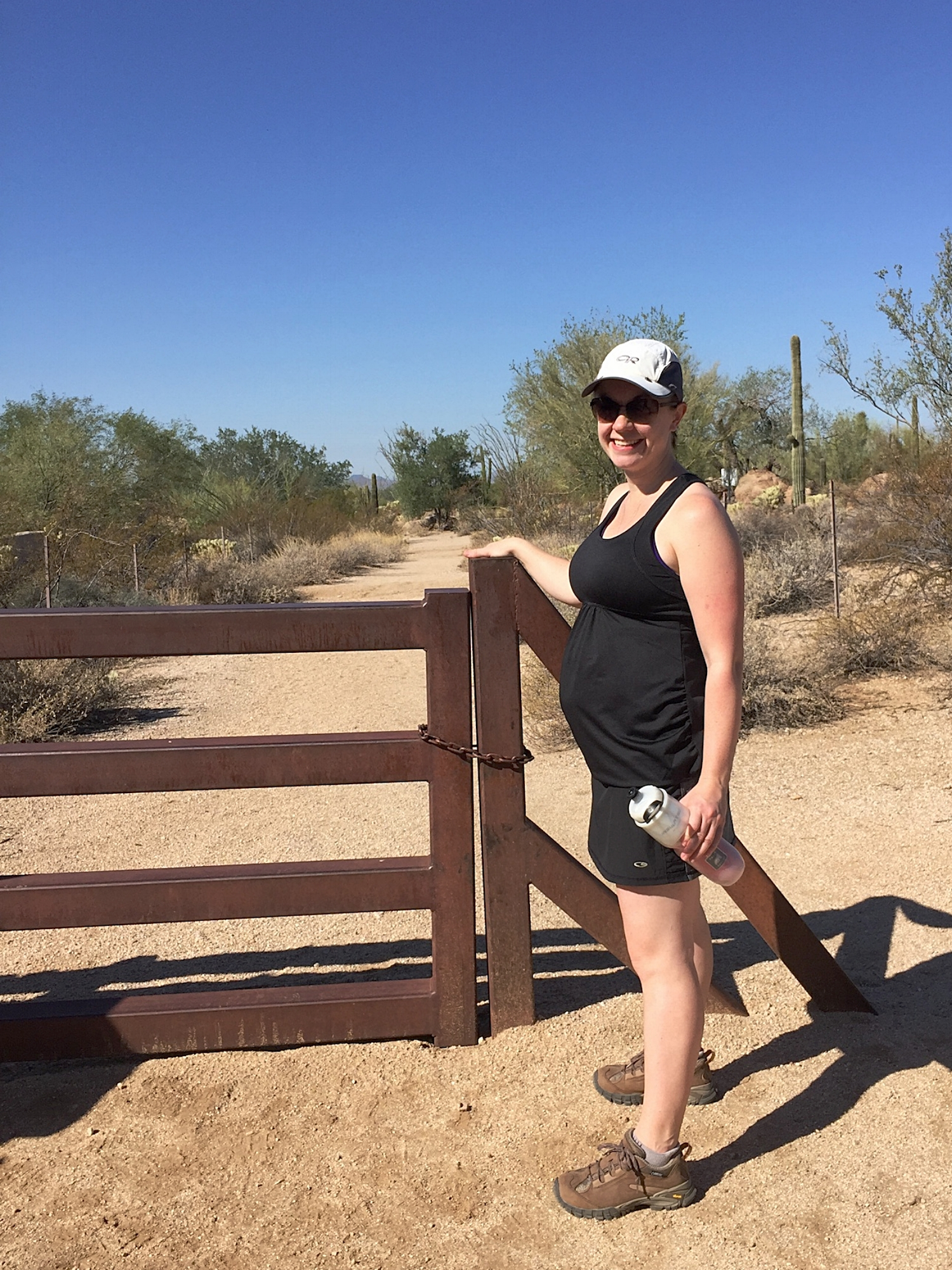 Apparently, hiking is the only photo documentation I have and it didn't even make my review list. This one is in Arizona when I was 18 weeks pregnant.