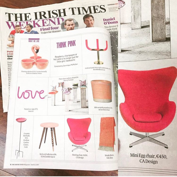 Our Jacobsen style Egg chair in the Irish Times Weekend