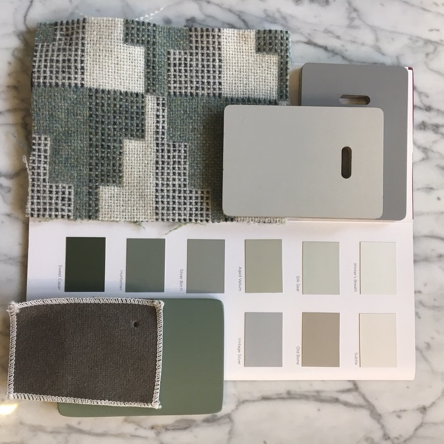Stunning shades of greys and greens with highlights of this year's colour du jour, sage.