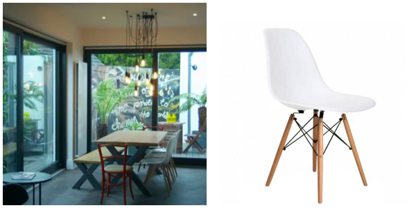 Eames-style DSW dining chairs  SHOP HERE