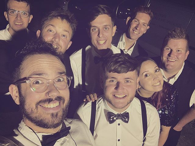 It's been a busy week! On Wednesday we headed of to Canterbury for a lovely wedding at @wintersbarns. Our full 8 piece band with trumpet and saxophone too!