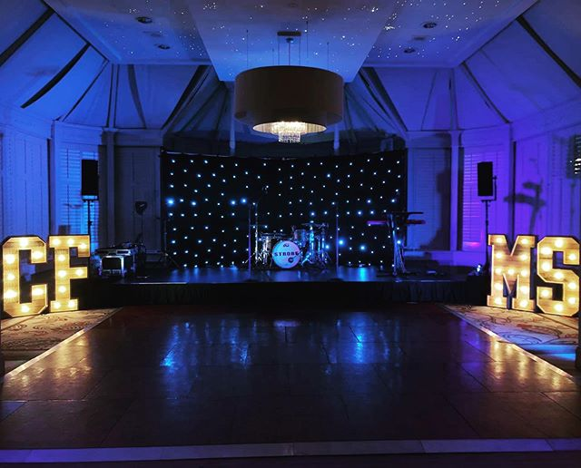 We had SUCH a great night on Friday at @thegrandbrighton, being involved in a fundraising event for two charities.  Our rustic lettering and star cloth looking 😍.. . . #partyband #liveband #fundraiser #charityevent #eventband #functionband #weddingband #music #corporateevents