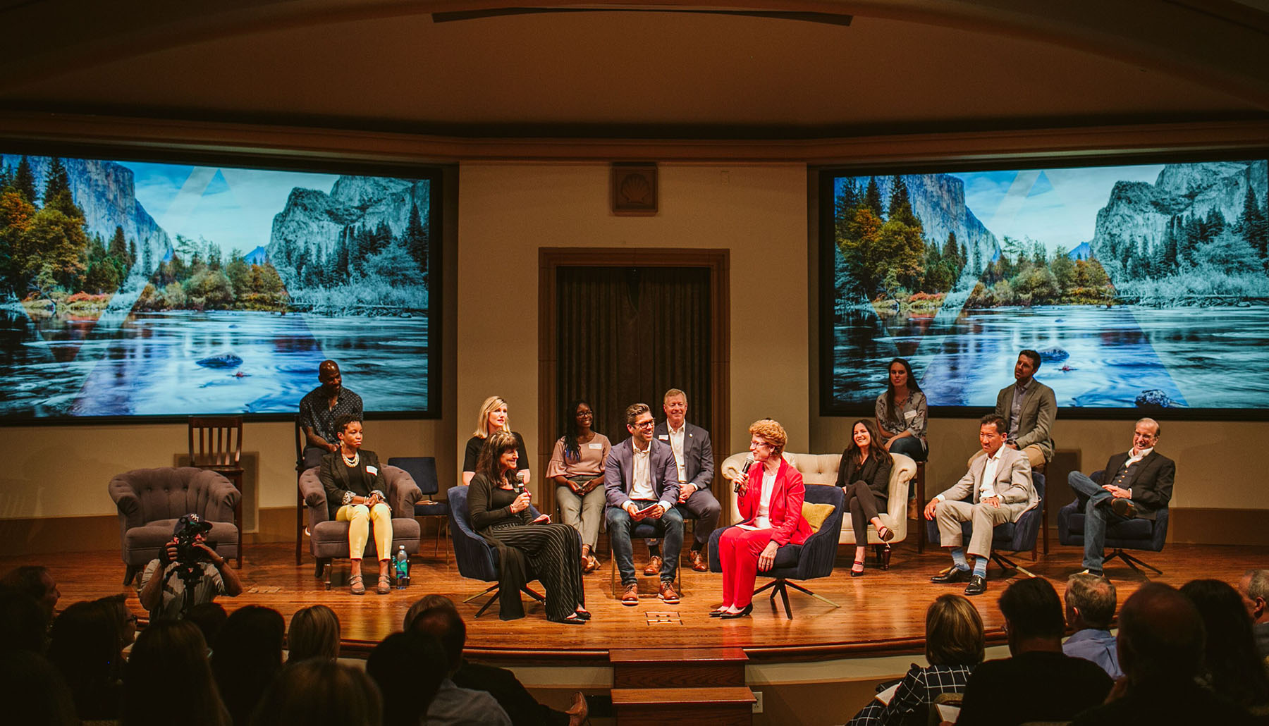 Fourteen thought leaders from the five generations in the workforce. Peace and Justice Theater, USD. April 24, 2019.
