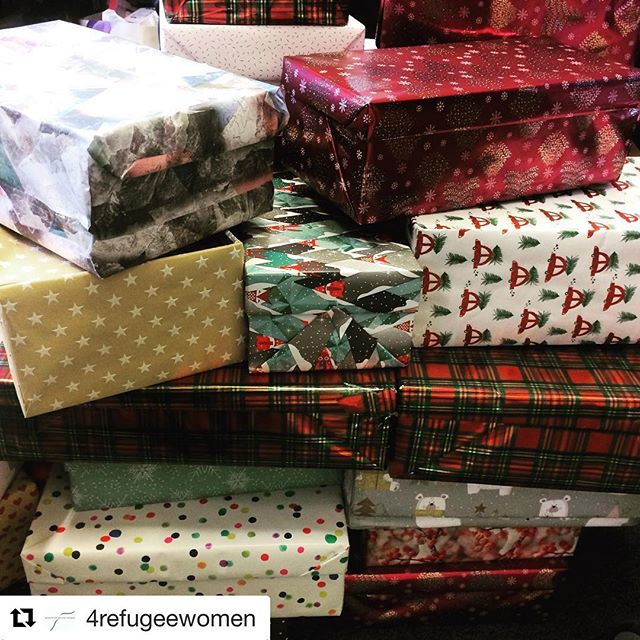 A huge thank you to everyone who donated 🎄🎄🎄we dropped the bulk of the boxes off to the wonderful @4refugeewomen yesterday and will be heading along to their christmas party on Monday to meet the recipients #repost @4refugeewomen ・・・ Our little office is stacked full of Christmas gifts for the refugee women in our network that were collected by @lazandsaz. These beautifully wrapped boxes will be going to the Star Pupils of each English class.