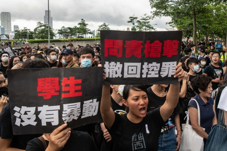 Protesters march after a rally against a now suspended extradition law, on June 17, 2019 in Hong Kong, China.   Billy H.C. Kwok/Getty Images