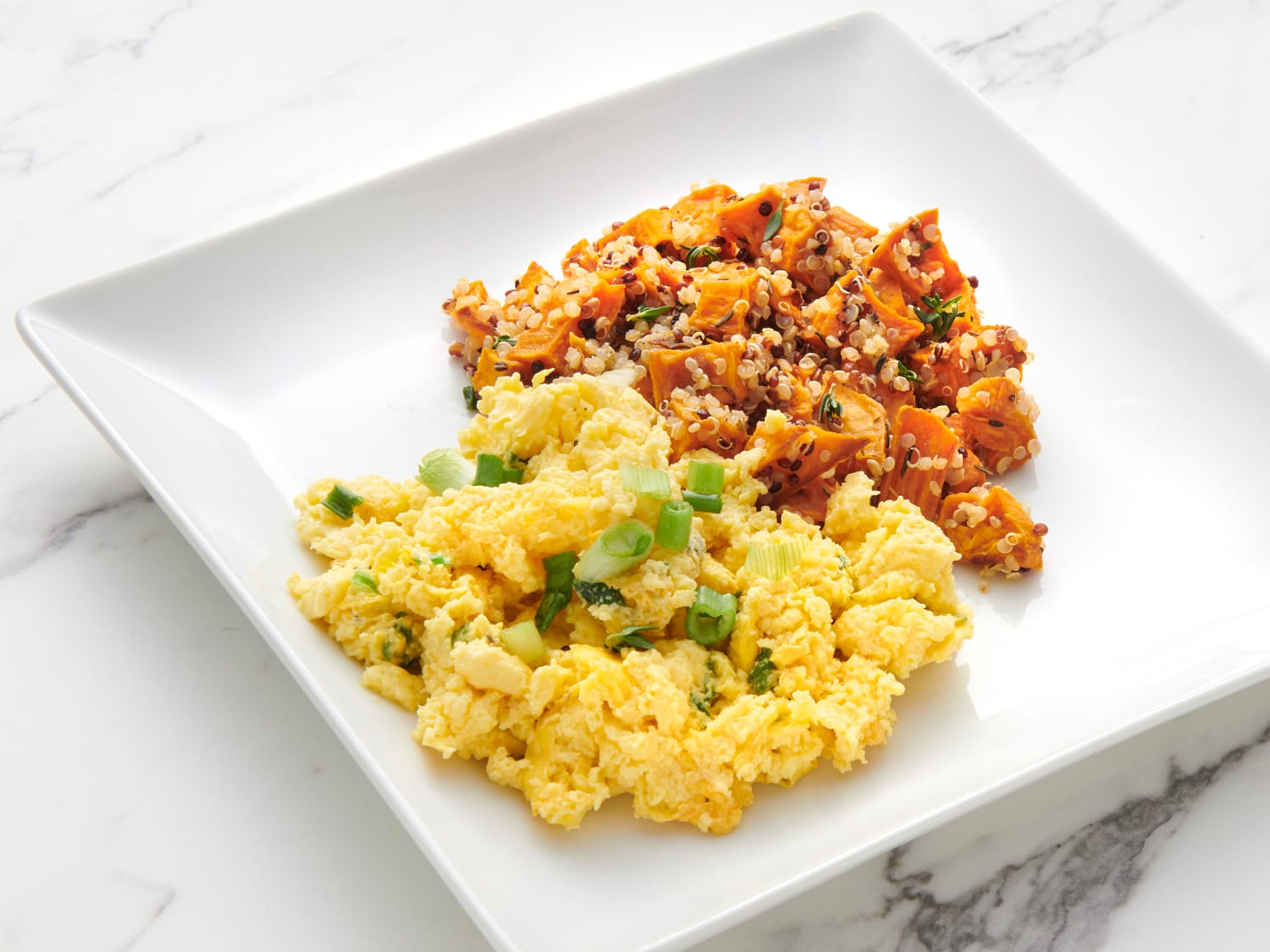Peruvian Style Sweet Potato Hash and Eggs