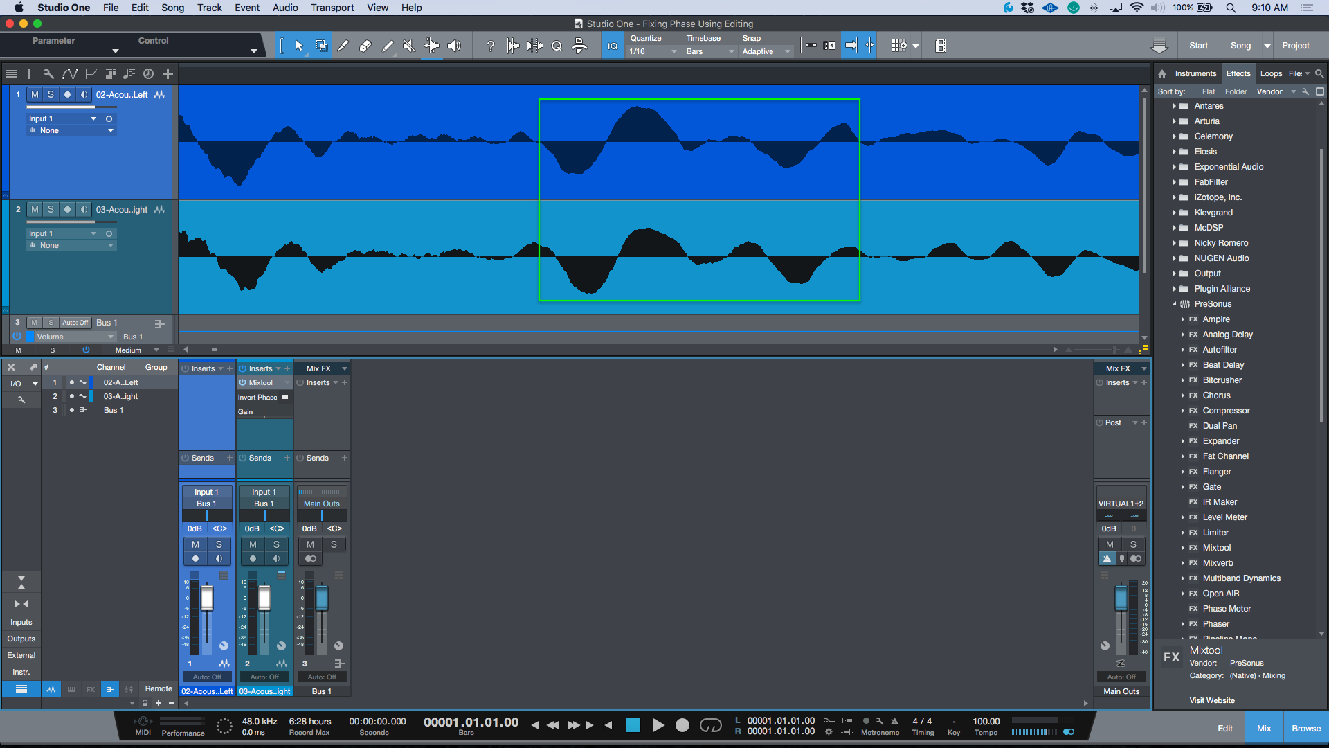 Note that the Waveforms (although not identical) are similar in terms of their positive and negative direction that they are both flowing.