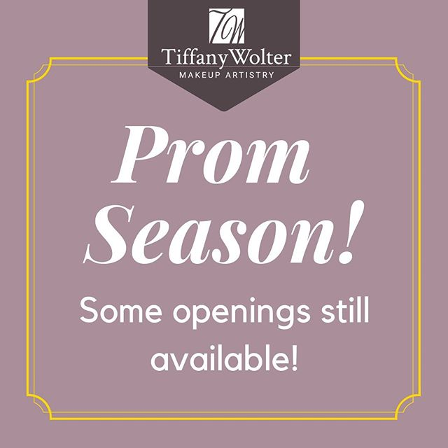 Select prom openings are still available, send me a message or email for more info!