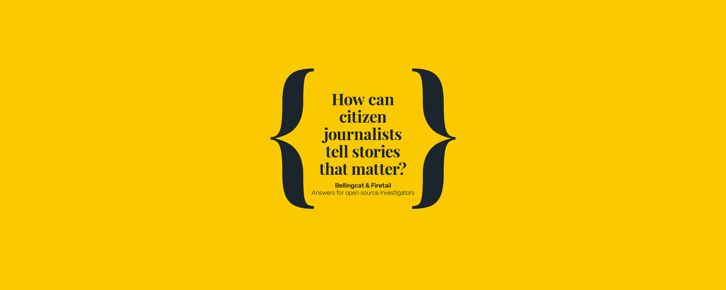 How can citizen journalists tell stories that matter