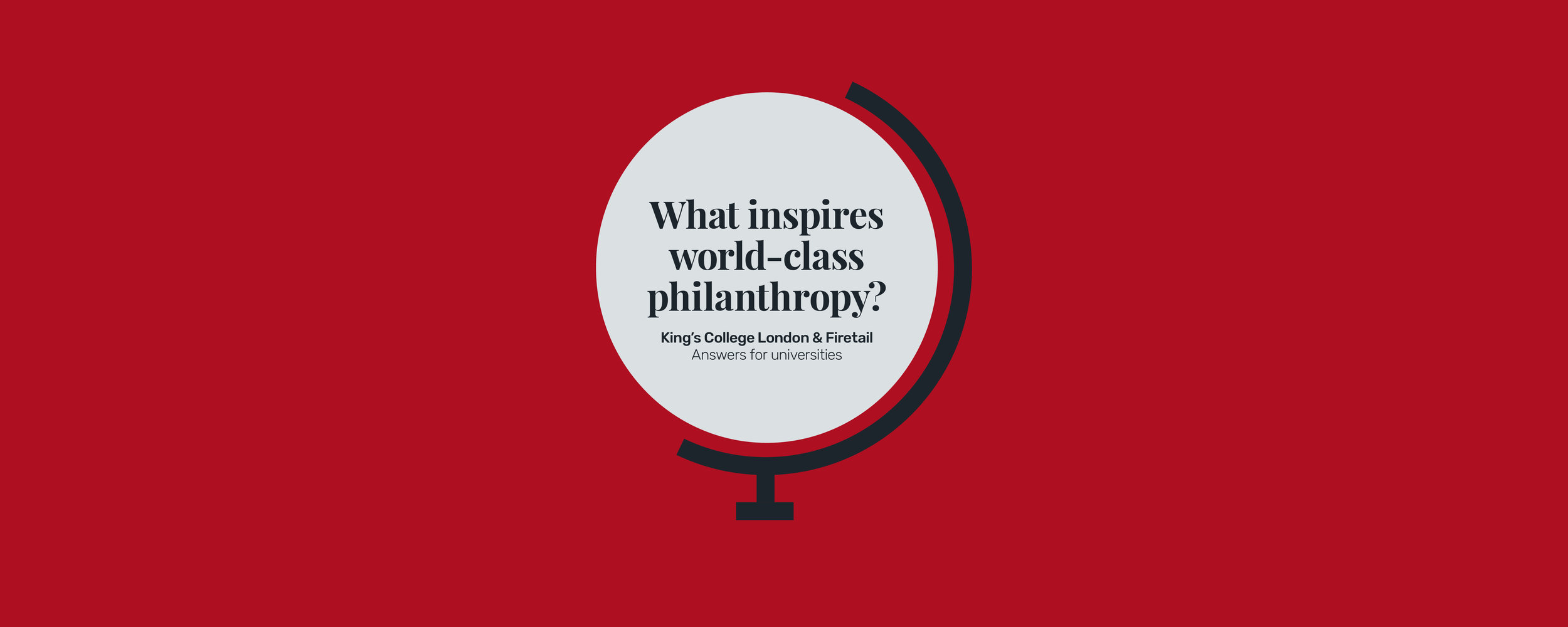 What inspires world class philanthropy