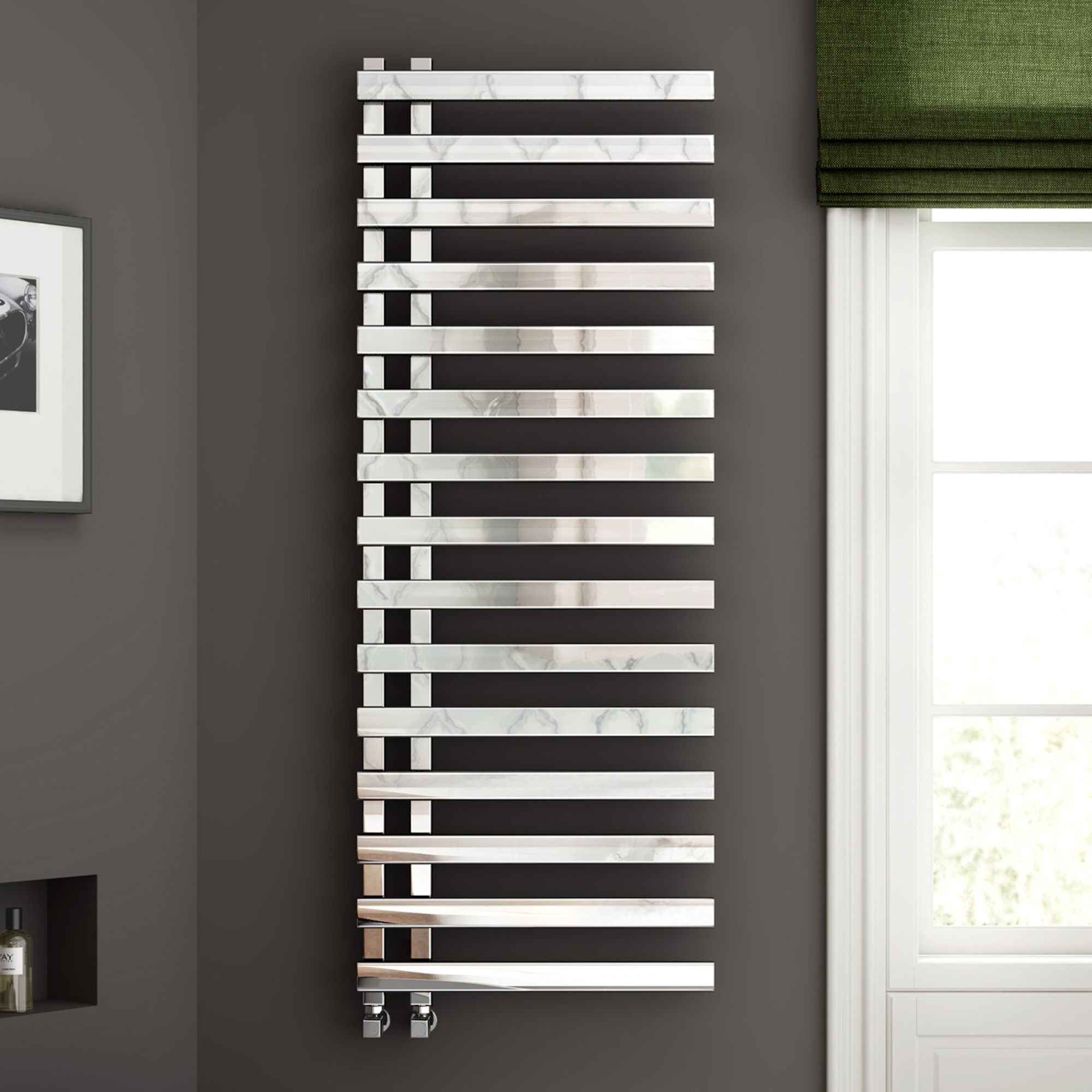 Soak Chrome Designer Towel Radiator (£362.99)  Link here
