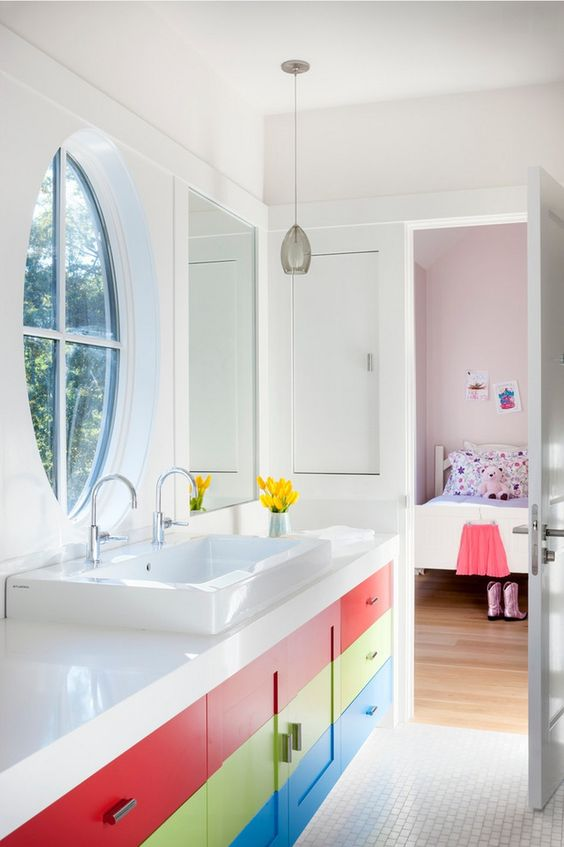 Fun use of colour with large double basin -  Link here
