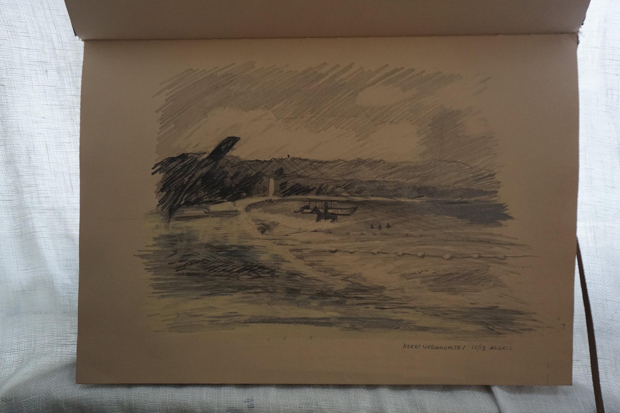 kerbi-urbanowski-jamaica-sketchbook-tourism-horseback