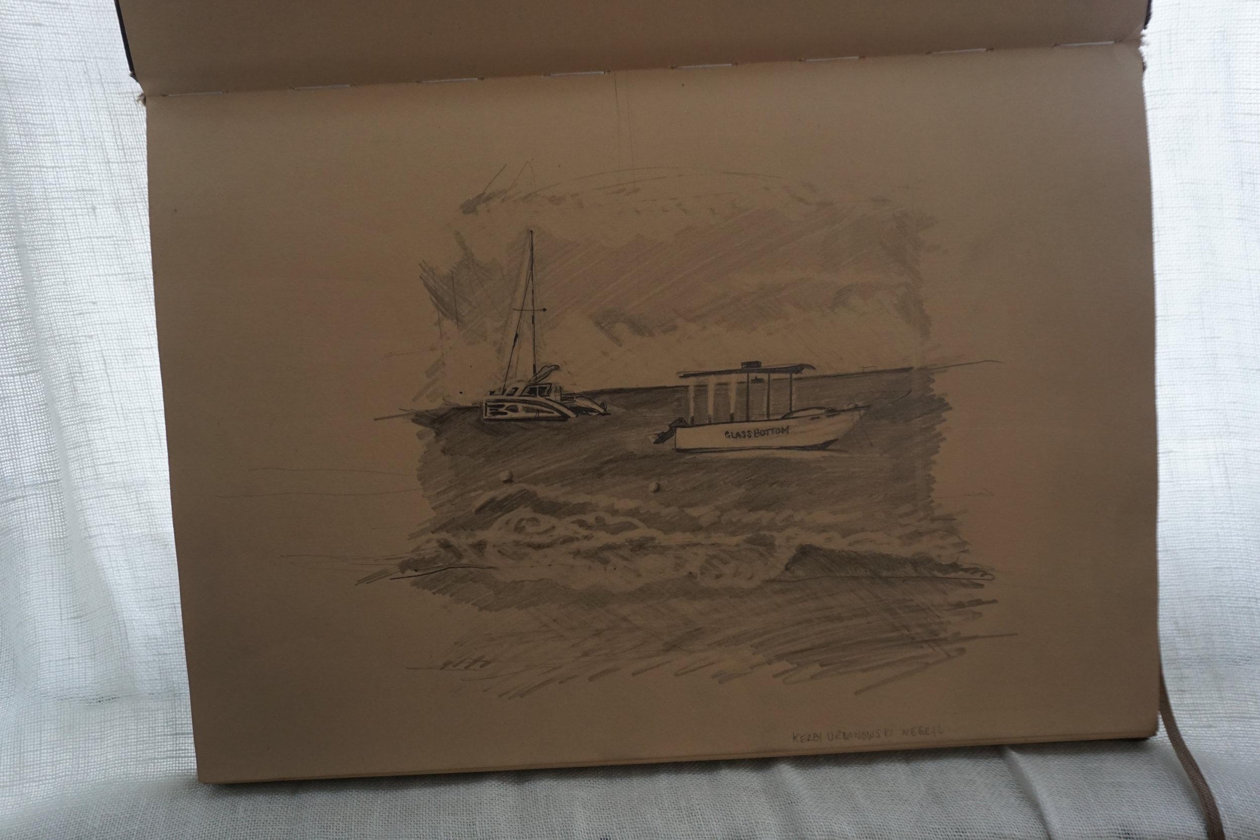 kerbi-urbanowski-bottomless-boat-negril-sketchbook