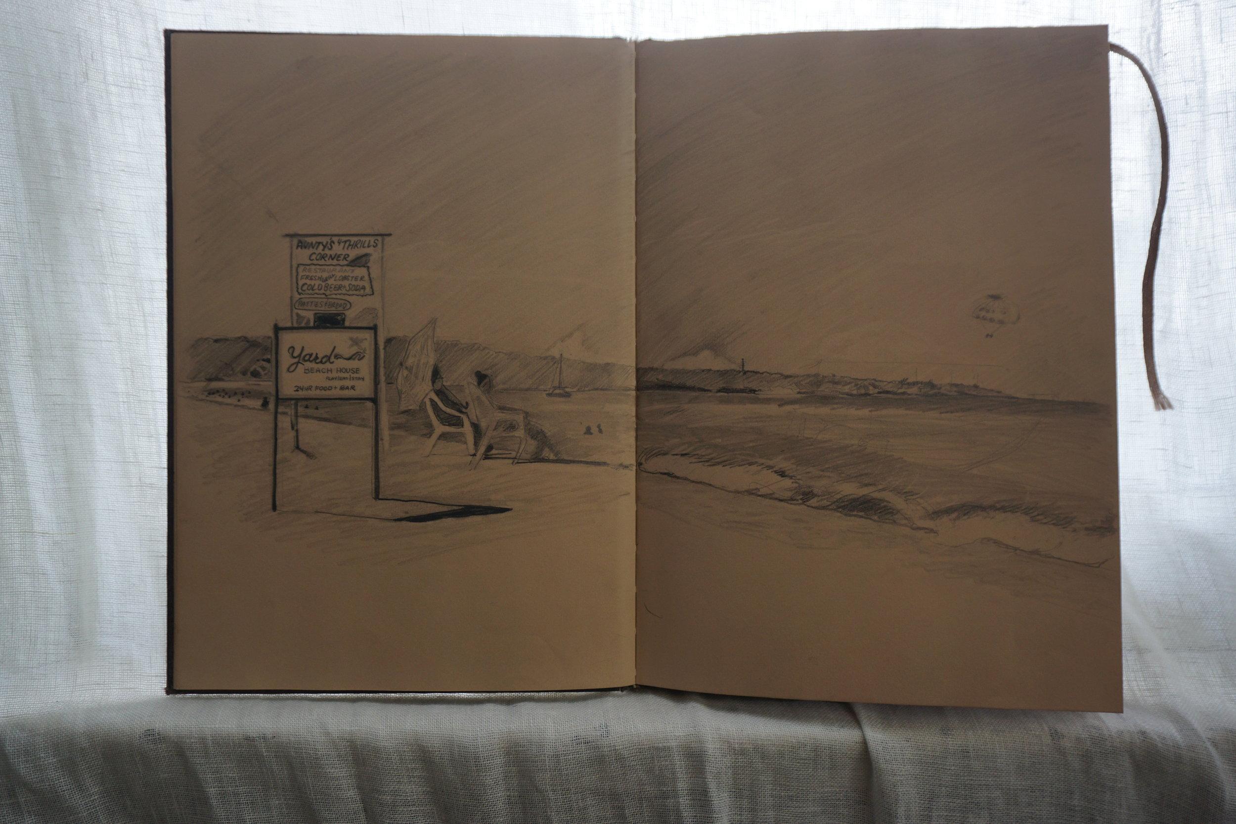 kerbi-urbanowski-sketchbook-landscape-negril-7milebeach
