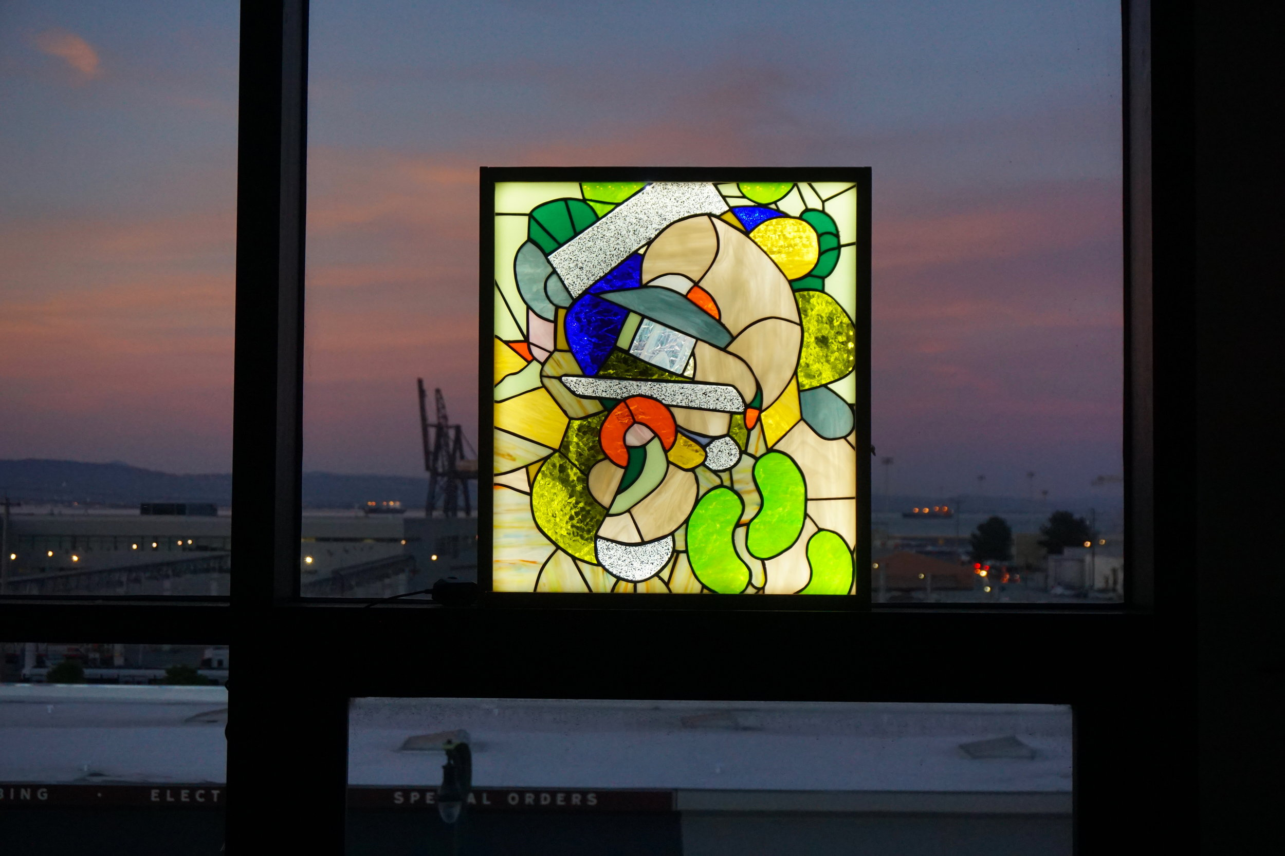 - Redwood City, 2019Stained Glass Light Box