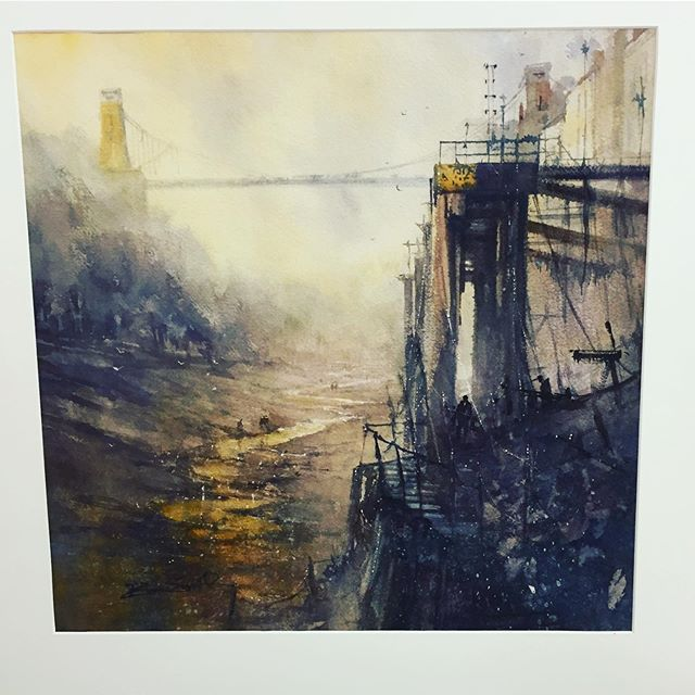 RESTORATION . . . A new #watercolour inspired by #bristol #dock scene  A #painting full of #light and #atmosphere overlooking a scene that has changed so dramatically over #time . . . Using @rosemarybrushes . . #onlineart #artoftheday #artofinstagram #bristolart #artworld #watercolourpaint