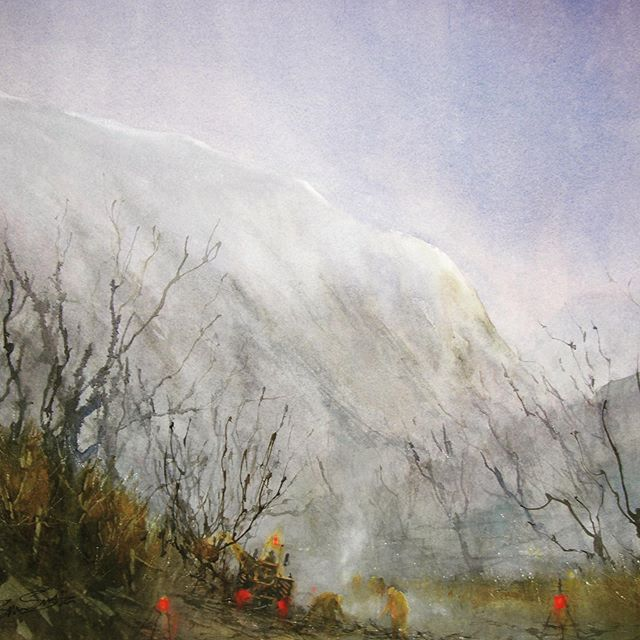 CUTBACK & CLEAR . . . . Here with this #watercolour #painting of the #lakedistrict from way back when. This painting is bringing back so many #memories of the #atmospheric #mountianlife . . . Using @rosemarybrushes @winsorandnewton . . . #artist #artistontherise #artistoninstagram #watercolourartist #artoftheday