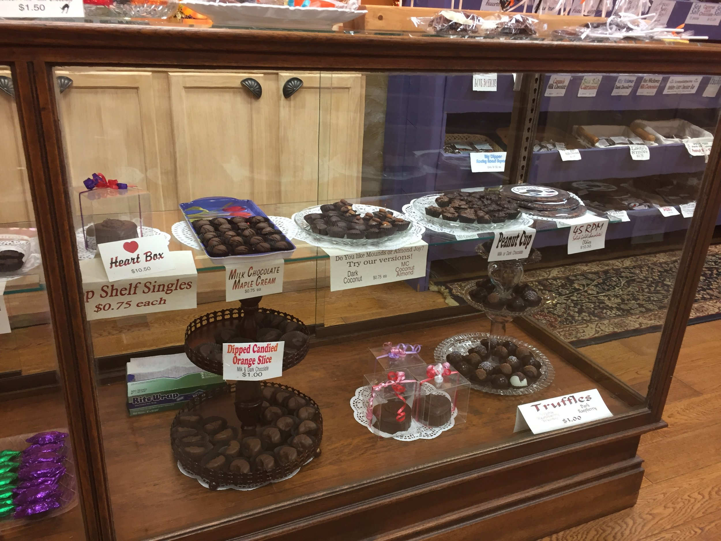 We have a large variety of chocolates