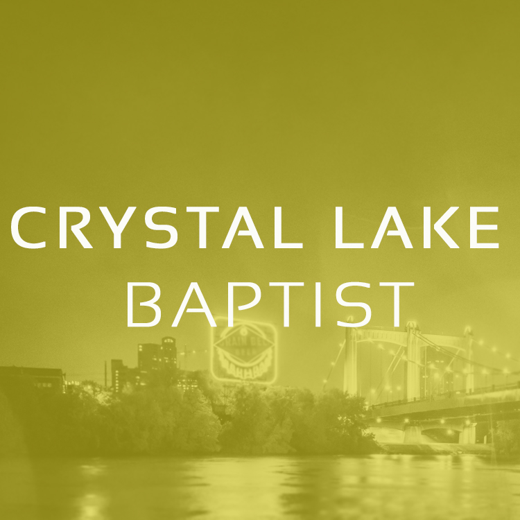 Crystal Lake is a revitalizing church meeting across the river, in a southern suburb of Minneapolis, MN. This church is led by a very like-minded brother, Pastor Aaron Downs.