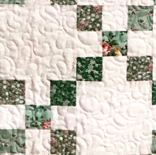 "June Quiltcrates Make your Irish Chain blocks with 2 blocks of background fabric (6 1/2"") and 2 nine patch blocks (6 1/2"")"