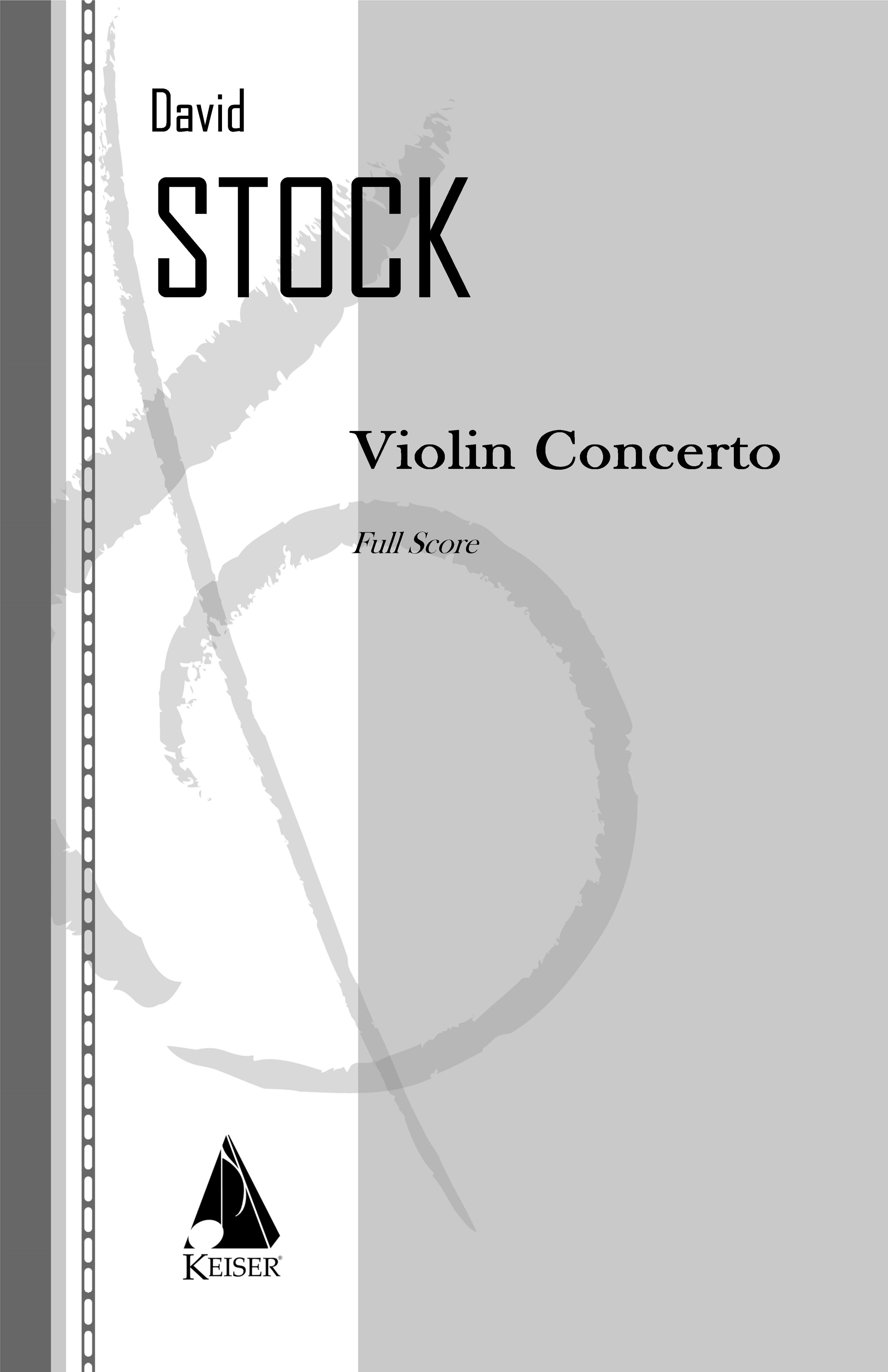 Violin Concerto(1995) - Violin Solo: 2(1d Picc, Alto Flute)+Picc.2+EH.2(1d Eb Clar)+BCl.2+Cbsn: 4.3.3.1: Timp.Perc(3).Hp: StrRent/Buy:Keiser Music