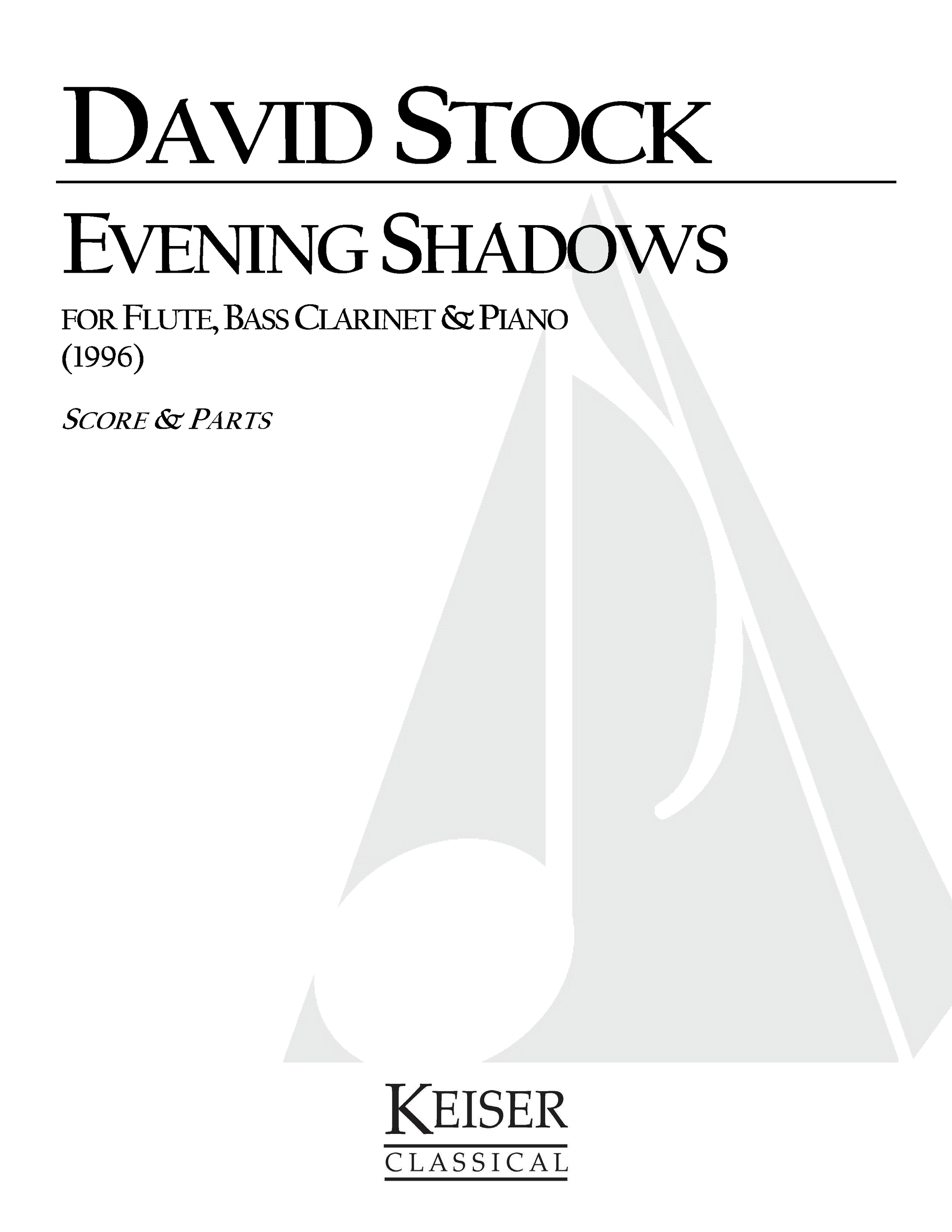 Evening Shadows (1996) - Flute, Bass Clarinet & PianoRent/Buy: Keiser Music