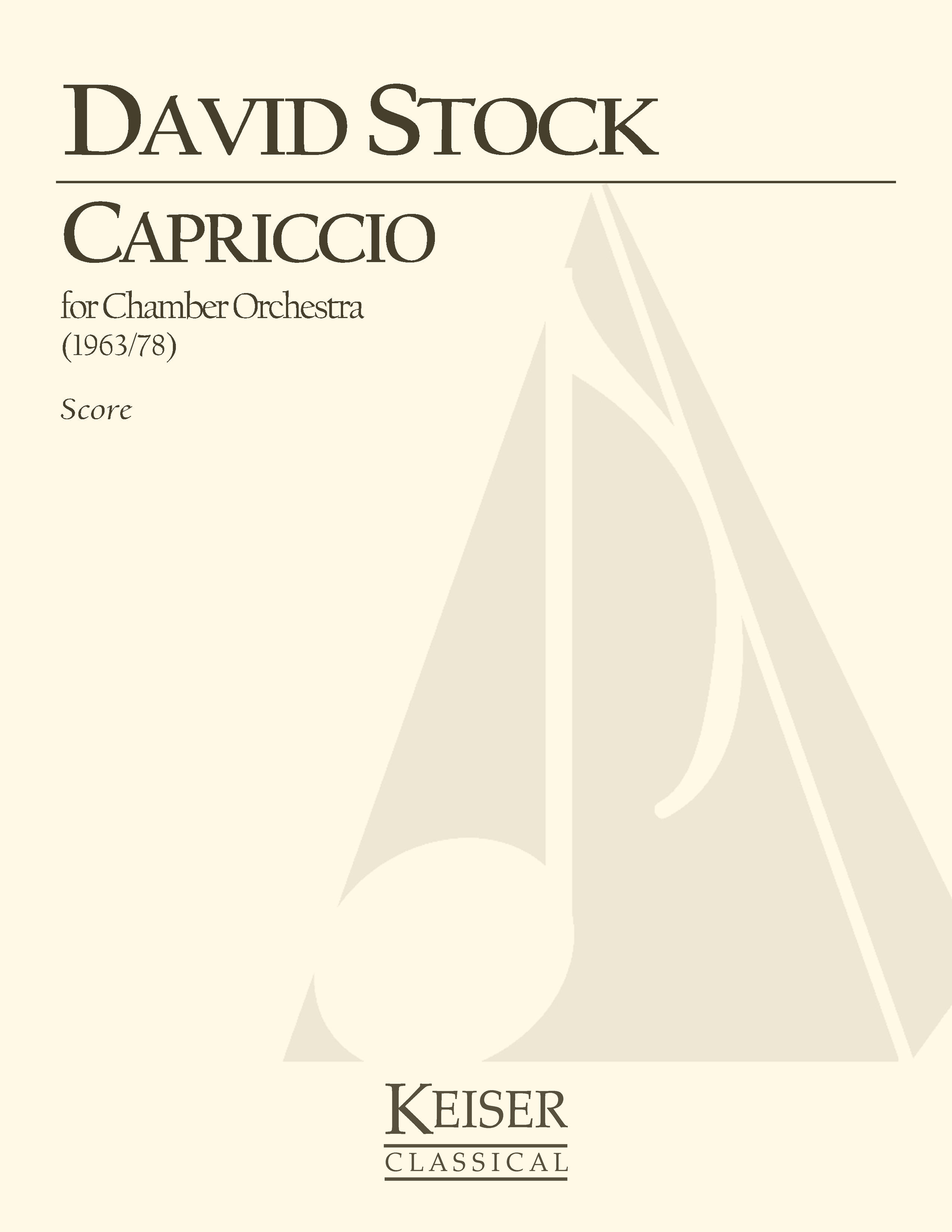 Capriccio For Small Orchestra (1963) - 1.1.1.1: 1.1.0.0: StrRent/Buy: Keiser Music