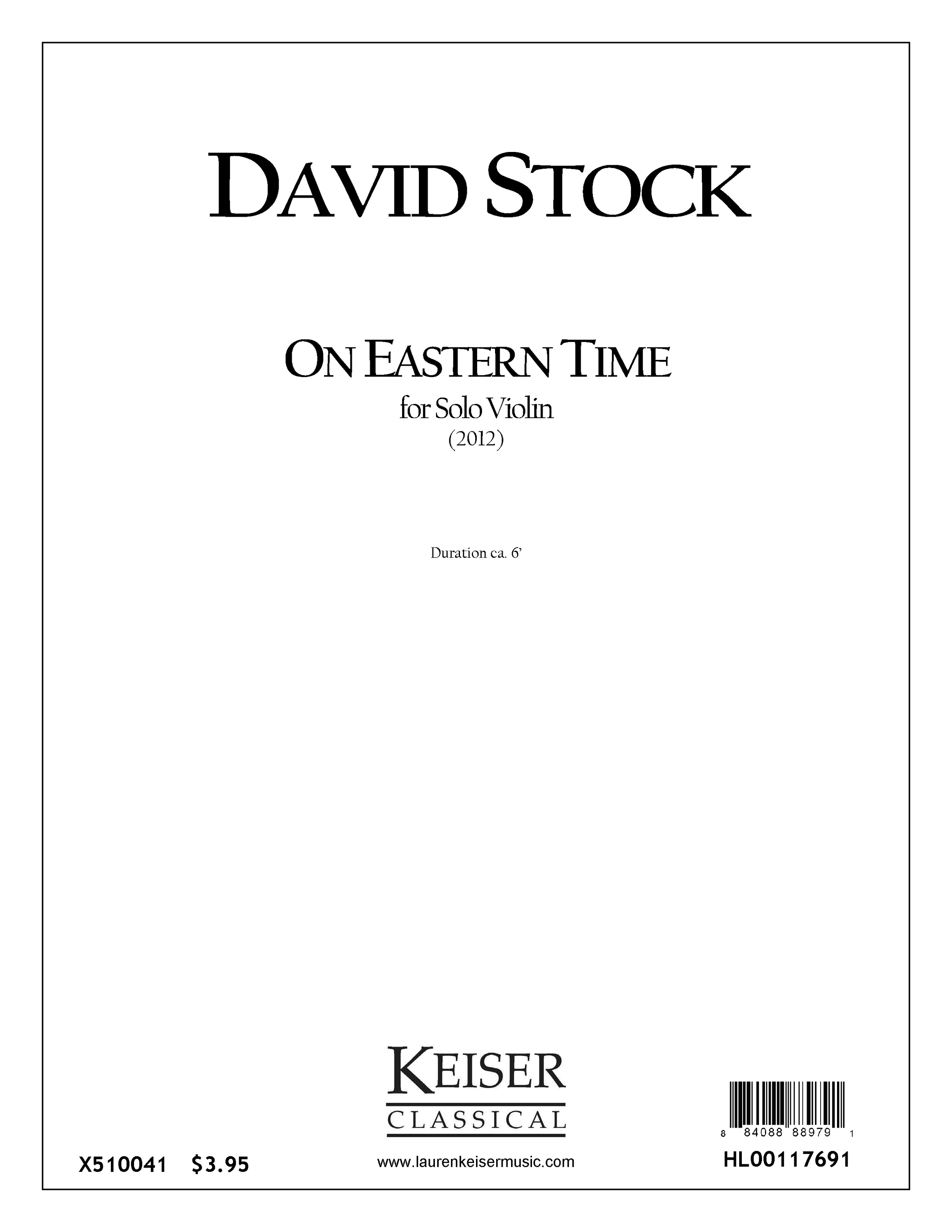 On Eastern Time (2012)  - Violin SoloRent/Buy: Keiser Music