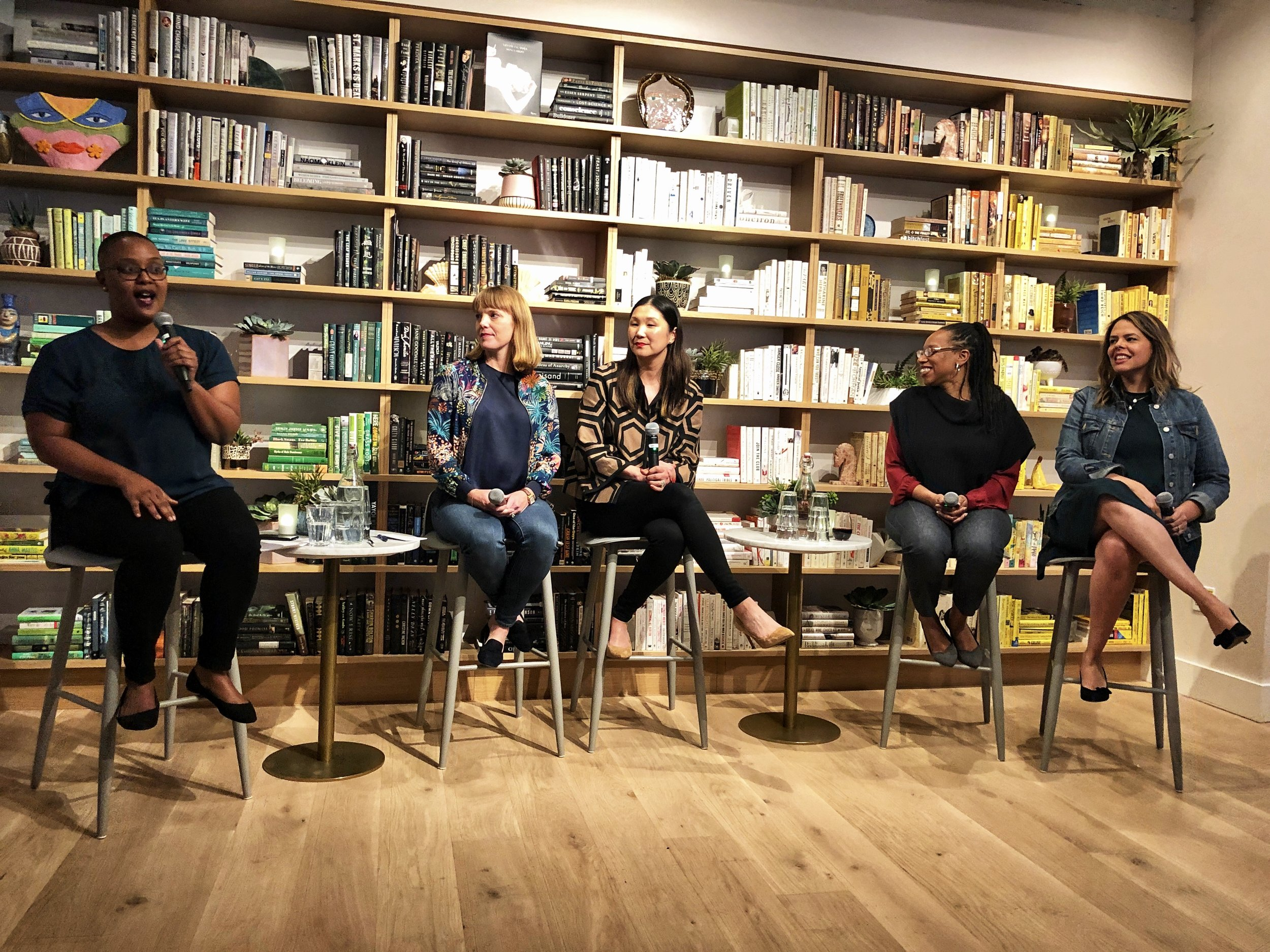 Equal Pay Panel - Hosted At the WingThis day symbolizes how far into the year all women must work to earn what men earned in the previous year. Women of color have to wait until later in the year (awful, I know) I shared the stage with incredible leaders who are elevating the conversation for pay equity for all. We shared our thoughts on the problem, gave negotiation tips and we discussed ways companies can do better for all women. Addressing pay equity issues isn't just a matter of compliance or protecting a companies reputation. Women are seeking employers who value fairness for all. So if you want to position yourself as an employer of choice, create a workplace that is fair to all workers and implements it into your culture. Remember we must all elevate the conversation - women and men - about the gender pay gap. Equal pay is not a women's issue; it is an issue that impacts us all — our families, our communities, and our country. Niema Jordan (Square) Maria Ma (Gap) Lateefah Simon and Karina Cabrera Bell (Reach Mama Network)