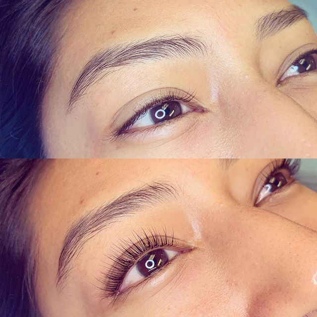 I'm in love with Fernanda's results from her lash lift and tint!! #lashlift #realresults #beautyroutine #naturallashes