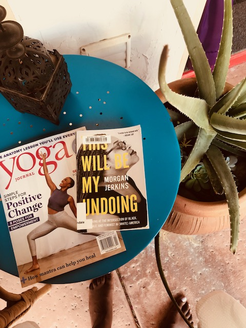 Spa reads! shout out to the stunning  Sara Clark  for gracing the cover of Yoga Journal.