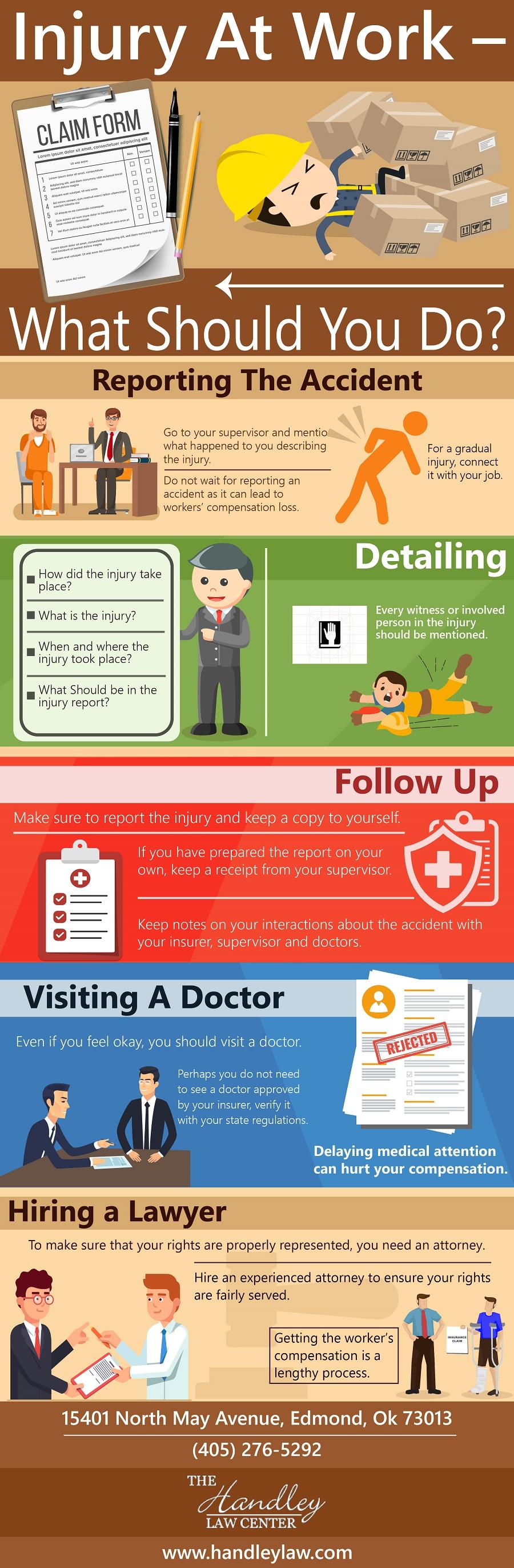 Injury At Work Infographic