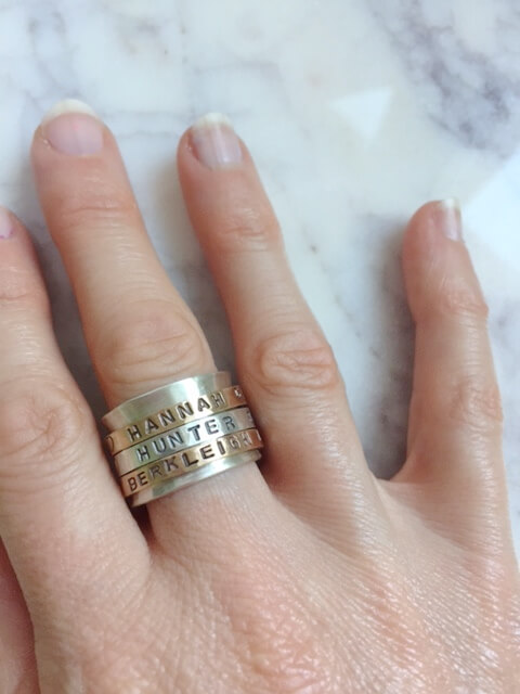 Wearing beautiful spinner rings