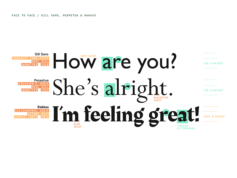 Typeface Mechanics  used in AIGA Design Week 2018 lecture