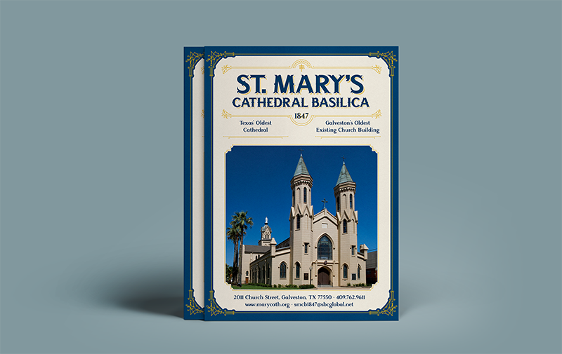 Print Collateral  for a rebranding of Holy Family Parish in Galveston, TX