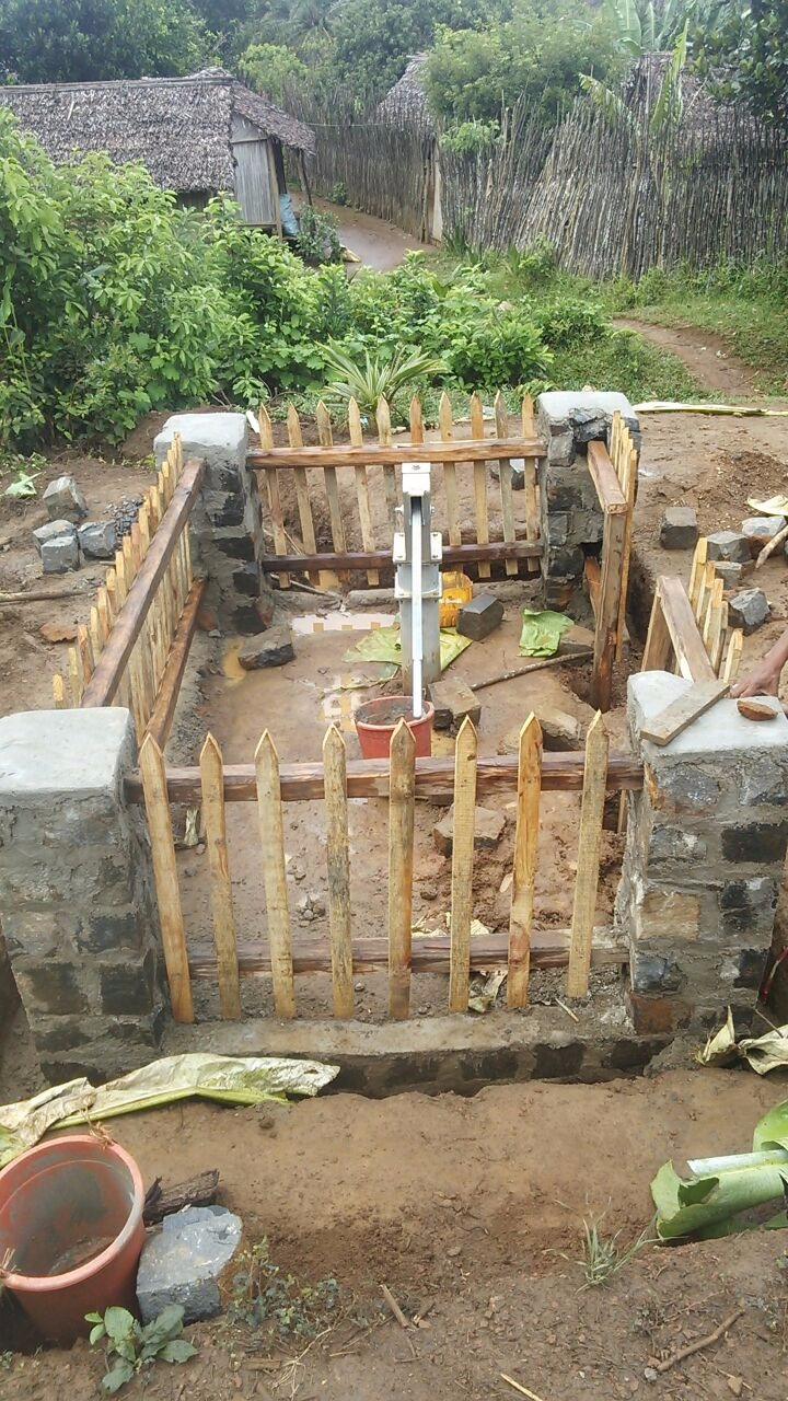 Building a new water well for the community