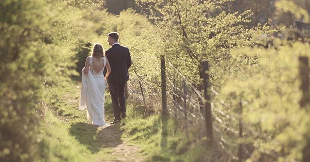 On the rare occasion the weather behaves, it never fails to impress 🌞 . . #goldenhour #britishcountryside #rainraingoaway #bridegroom #neverfailstoimpress #weddingvideography #weddingvideo #yorkshireweddingvideographer #bridesupnorth #makemomentscount #handinhand #westyorkshire #lookslikefilmweddings