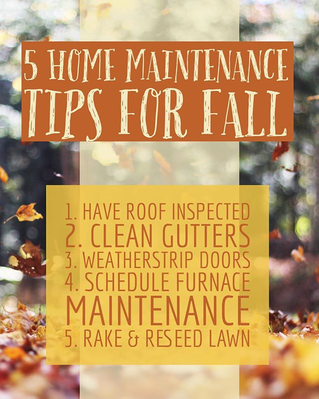 Keep your home in great condition with a little Fall maintenance! 🍂🏠