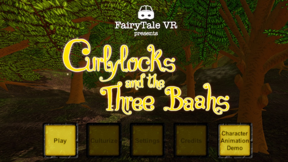 FairyTale VR - FairyTale VR is an immersive, animated virtual reality experience that reimagines a series of classic fairy tales to reflect the diversity and multiculturalism of modern families. The VR fairy tales change in real time to tell the story with a family that looks more like yours.