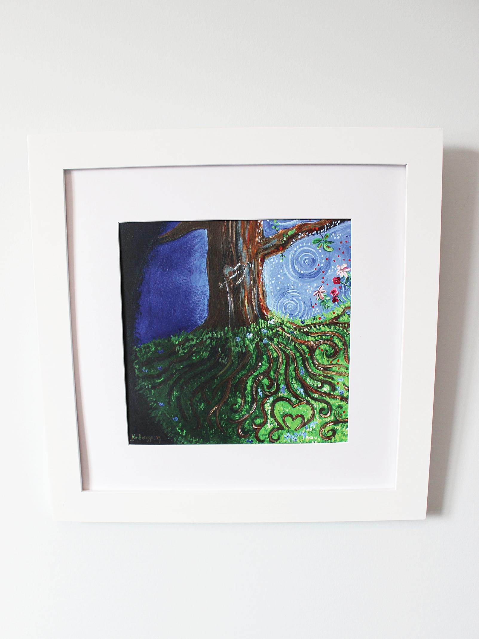 Tree roots print framed white.JPG